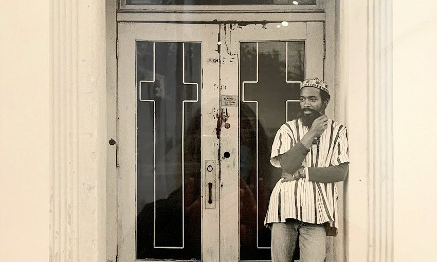 Blog2 Photograph of a photo by Bruce W Talamon of David Hammons 1974
