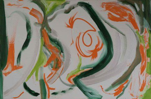 Carp Coi. Oil. 36x24 . 1997