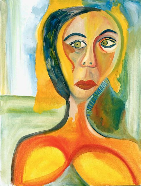 Green Eyes 2 Fear and Strength 2002 oil on canvas. 34x26 1