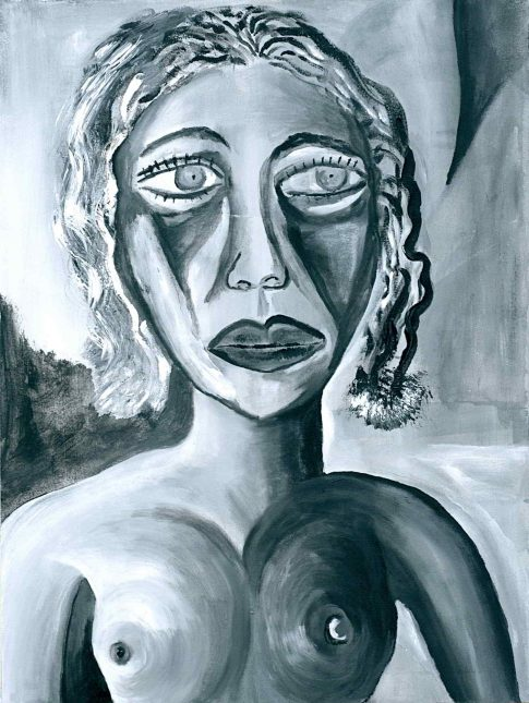 Green eyes 5 Sadness 2002 oil on canvas. 32x26 1