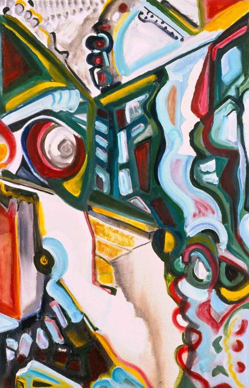 Sensing the Inchoate 2003. 40x26 . oil on canvas