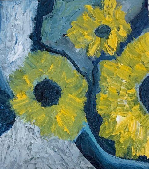 Sunflowers. Oil on canvas. 8x822. 2019