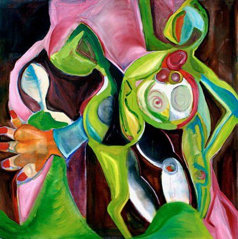 Triangulation 2004 oil on canvas. 48x48 1