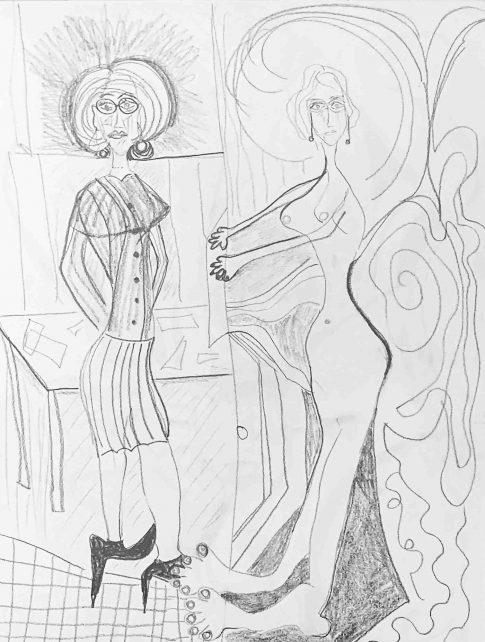 questioning identiy. 2019. pencil sketch. 12x9 1