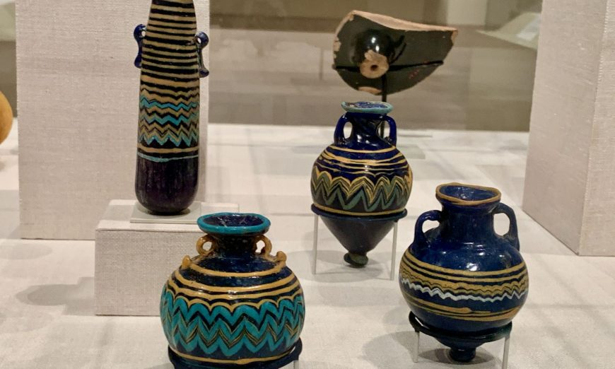 FOUR CORE GLASS VESSELS AT THE MET