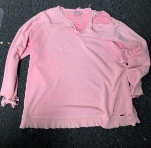 this pink sweatshirt