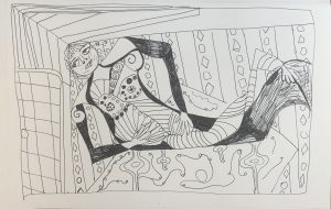 in the harem pen and ink sketch 6.17.21