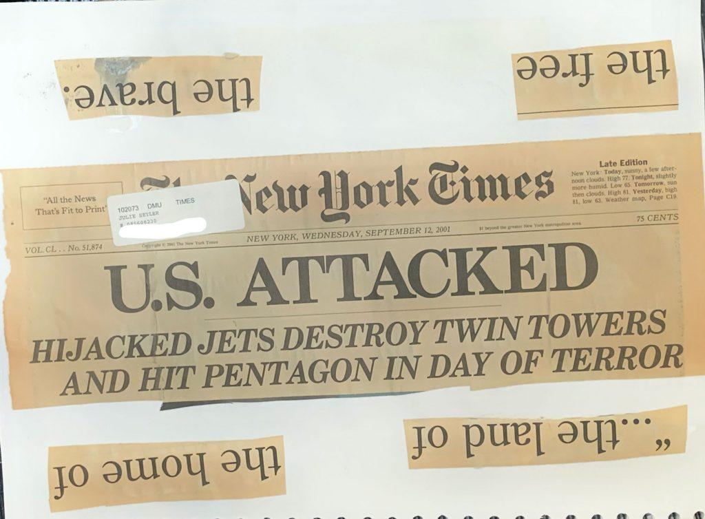NY TIMES HEADLINES 9.12.01 1
