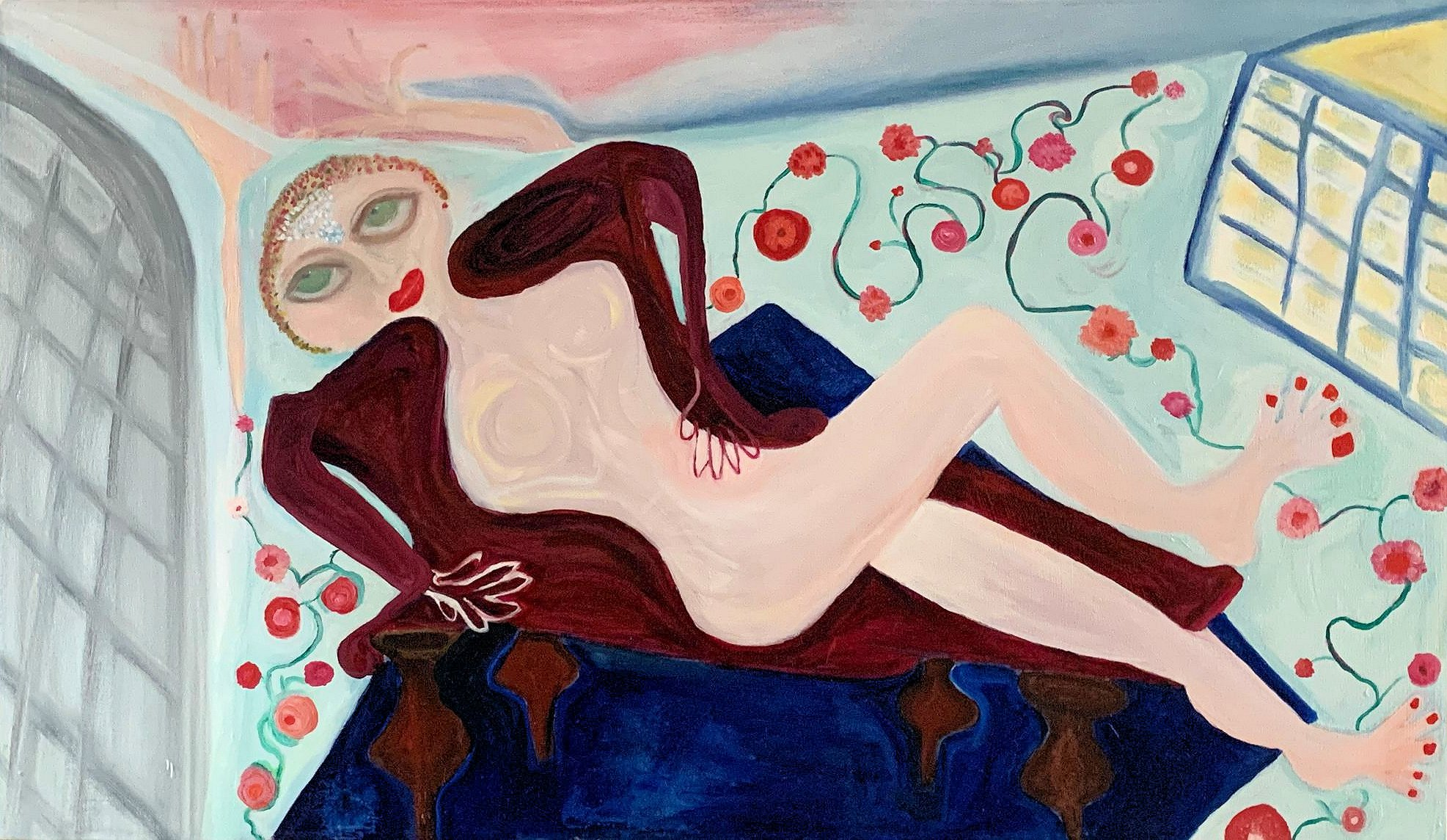 Woman on a Daybed